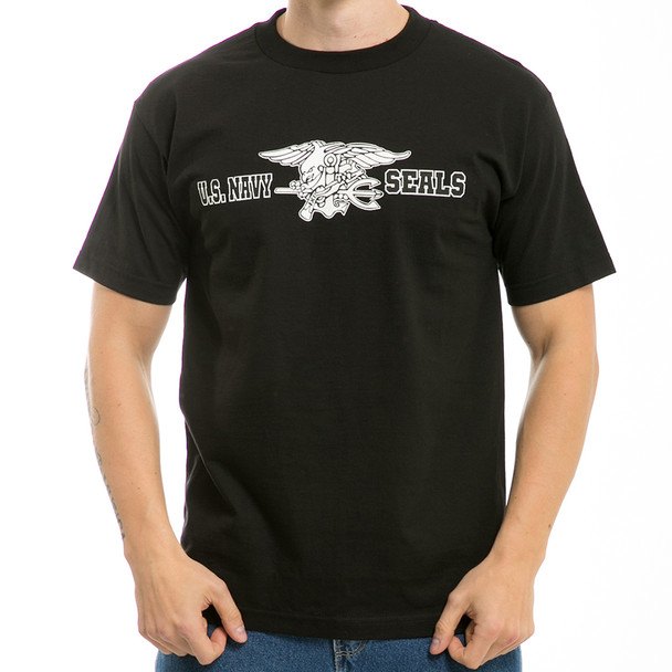 S25 - Classic Military T-Shirts - Navy SEALS - Black