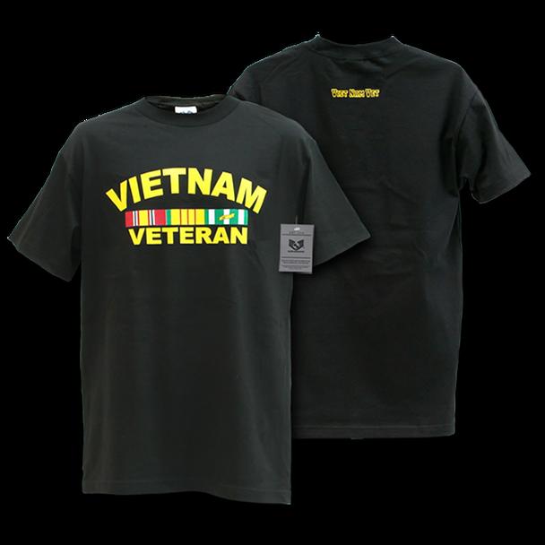 S25 - Classic Military T-Shirts - Vietnam Veteran - Black