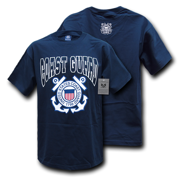 S25 - Classic Military T-Shirts - Coast Guard - Navy Blue