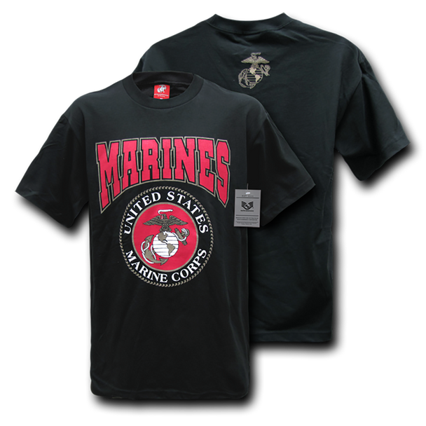 S25 - Classic Military T-Shirts - Marines - Black