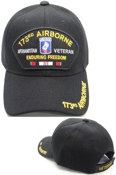 173rd Airborne Veteran Cap Afghanistan - Enduring Freedom - Black