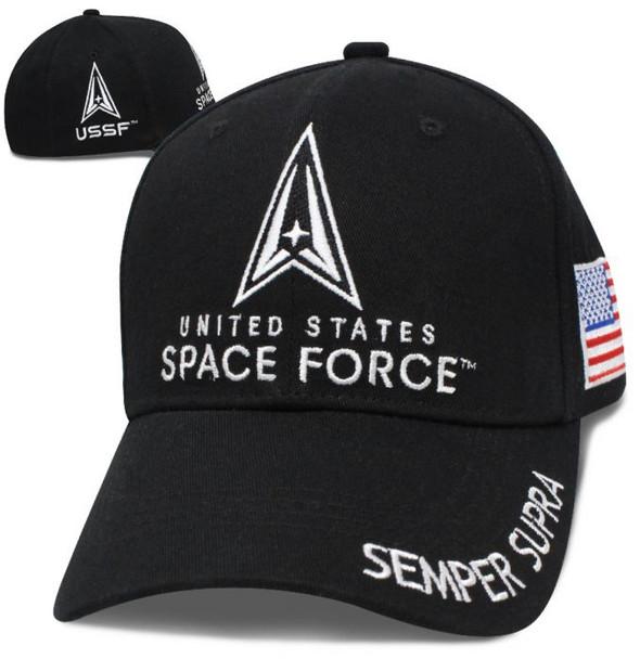 U.S. Space Force Logo Cap - Semper Supra - Black