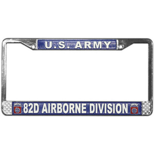 U.S. Army 82nd Airborne Division License Plate Frame - LFA09