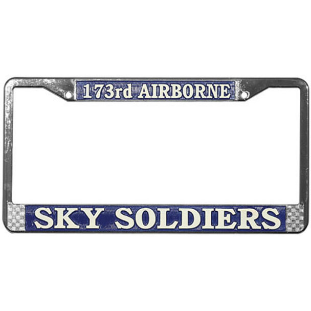 173rd Airborne Division Sky Soldiers License Plate Frame - LFA21