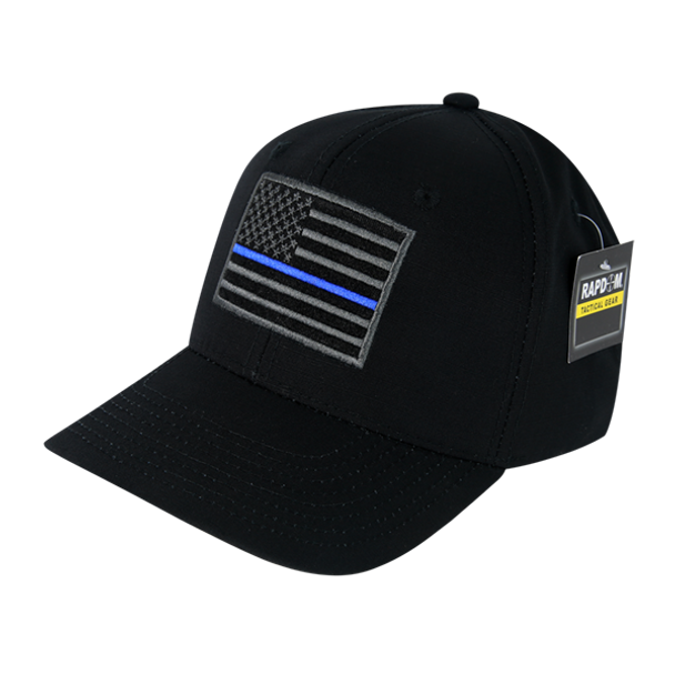 T108 - RapDom Police Thin Blue Line Operator Cap - Ripstop - Black