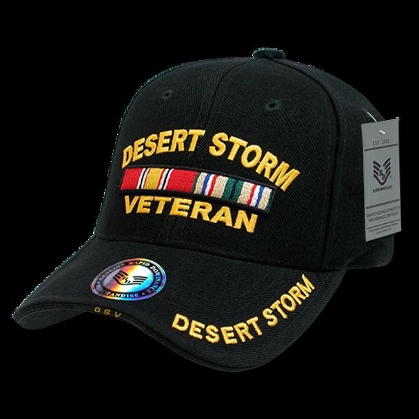 RD - Military Cap - Desert Storm Veteran - Black