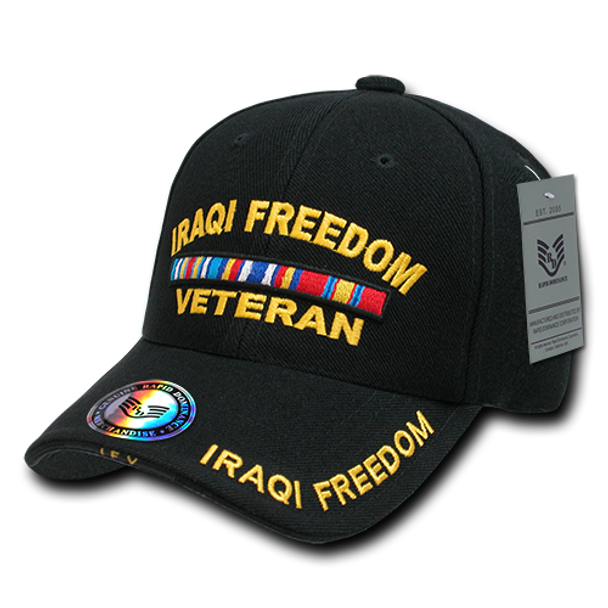 RD - Military Cap - Iraqi Freedom Veteran - Black