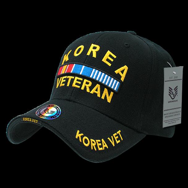 RD - Military Cap - Korea Veteran - Black