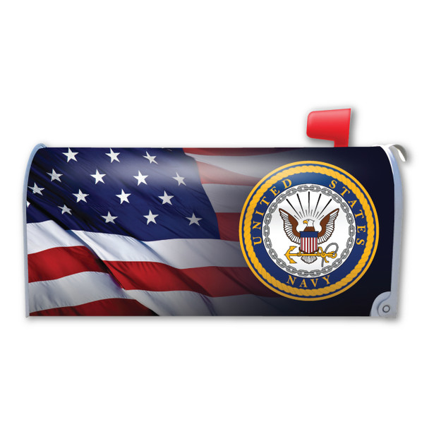 """Made In USA American Flag U.S. Navy Mailbox Cover Magnet (21"""" x 18 3/8"""")"""