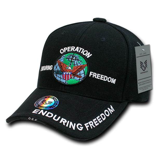 RD - Military Cap - Operation Enduring Freedom - Black