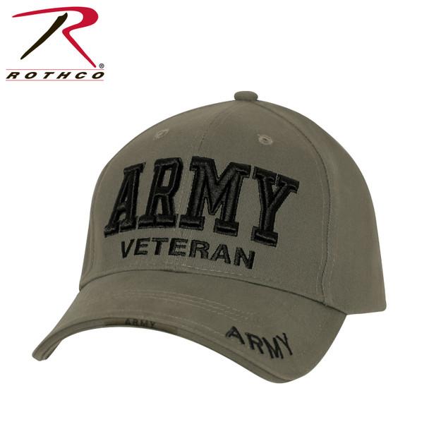 Rothco U.S. Army Veteran Cap Low Profile Cotton (#3946) - Olive Drab