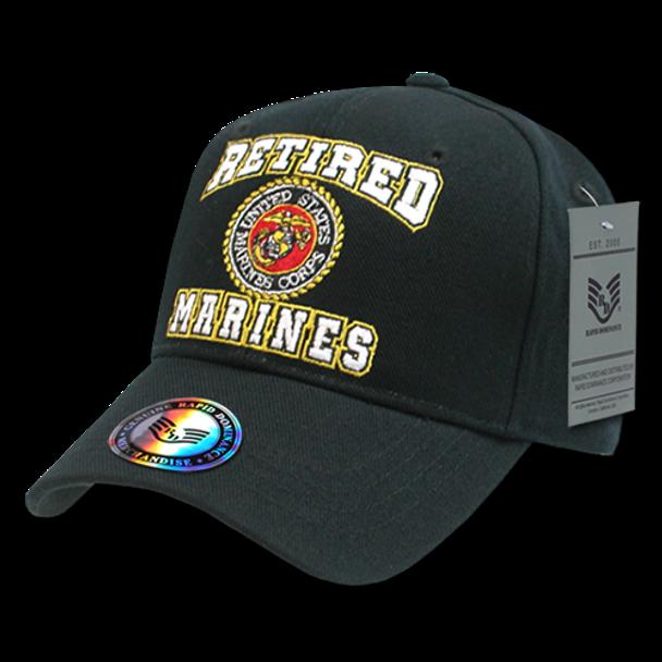 RET - Military Cap - U.S. Marines - Retired - Black