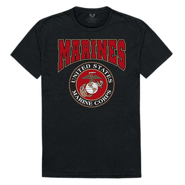 Relaxed Graphic T-Shirt Marines Black