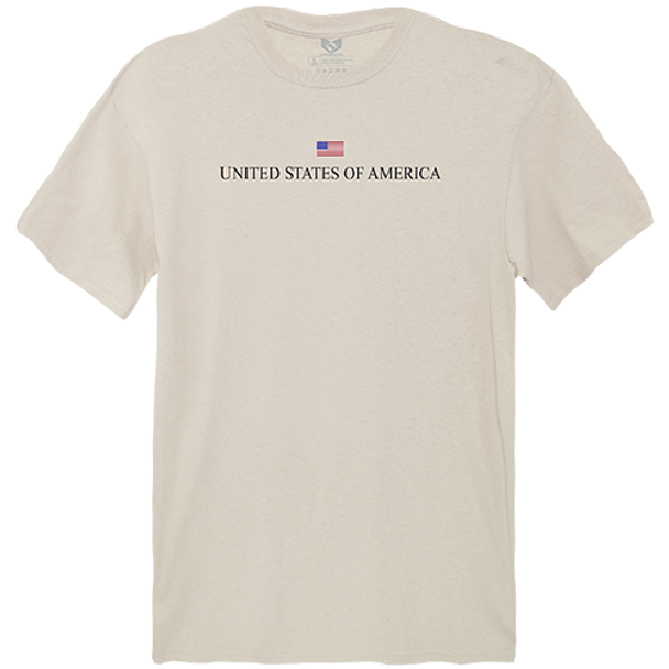 Relaxed Graphic T-Shirt USA Sand