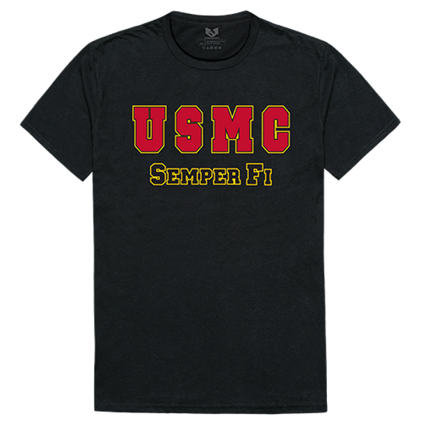 Relaxed Graphic T-Shirt USMC Black