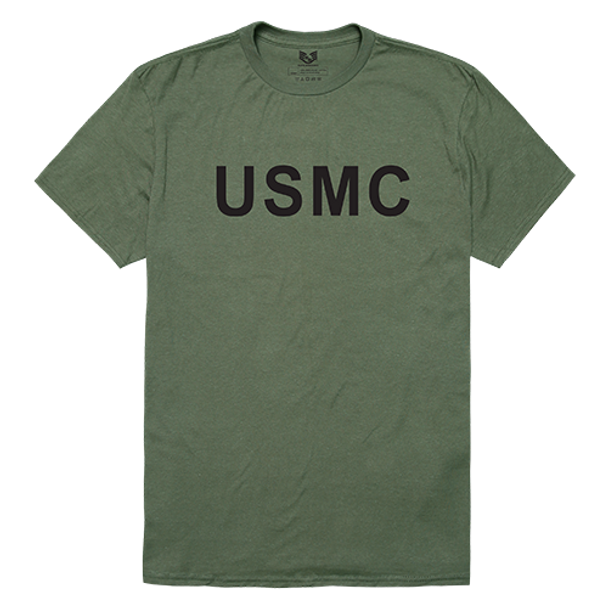 Relaxed Graphic T-Shirt USMC Olive