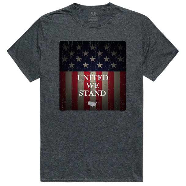 Relaxed Graphic T-Shirt United We Stand Heather Charcoal