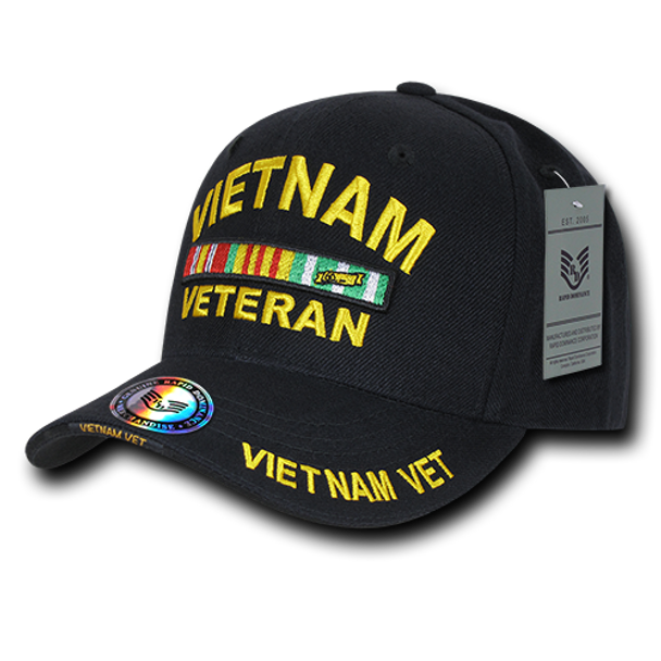 S001 - Military Cap - Vietnam Veteran - Black