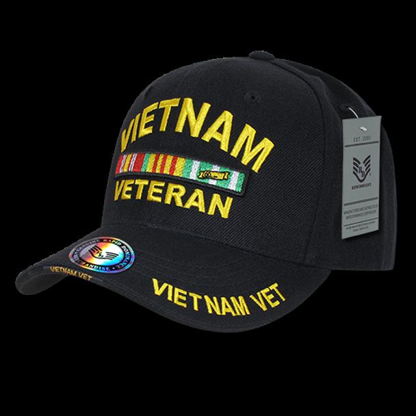 S001 - Military Cap - Vietnam Veteran - Black