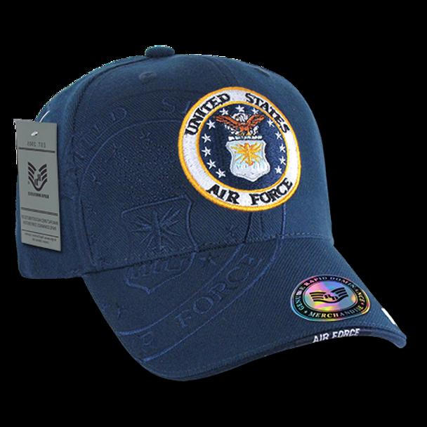 S007 - Shadow Military Cap - U.S. Air Force - Navy