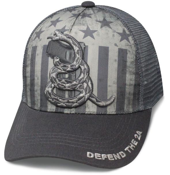 Defend the Second Amendment Cap - Mesh - Snapback - Subdued Grey
