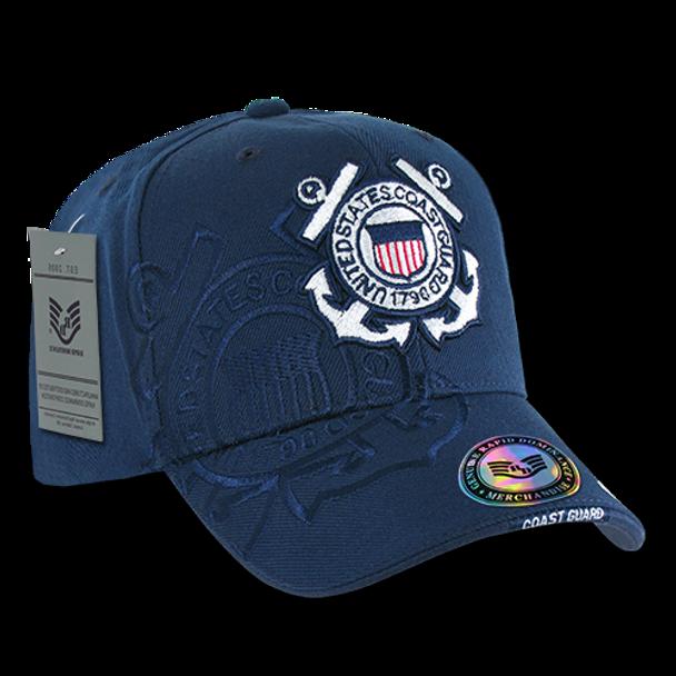 S007 - Shadow Military Cap - U.S. Coast Guard - Navy