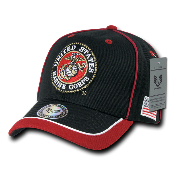 S012 - Piped Military Cap - U.S. Marines
