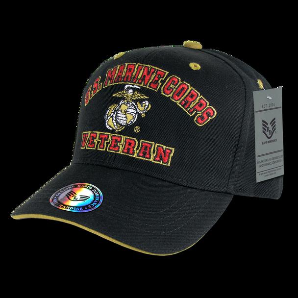 VET - Veteran Cap - U.S. Marines - Black