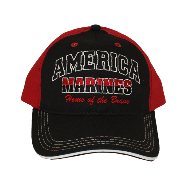 12254 - U.S. Marines Hat America Home of the Brave Made In USA
