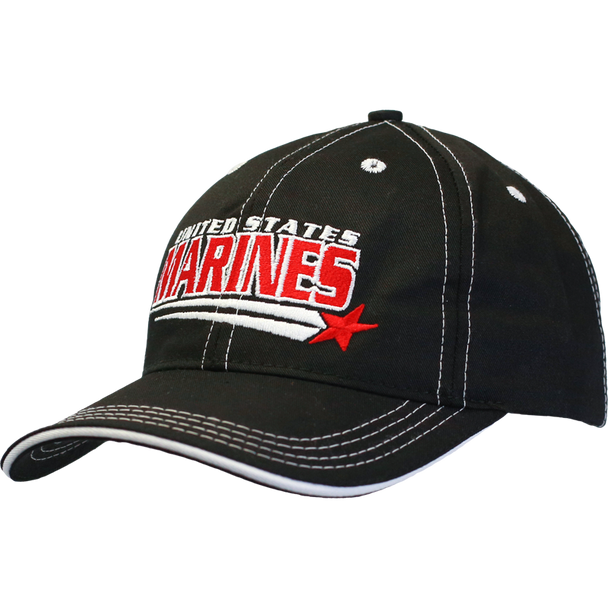 26160 - Made In USA Military Hat - U.S. Marines - Shooting Star