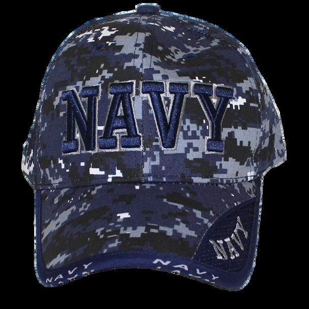 10077 - Military Hat - U.S. Navy - Blue Digital Camouflage