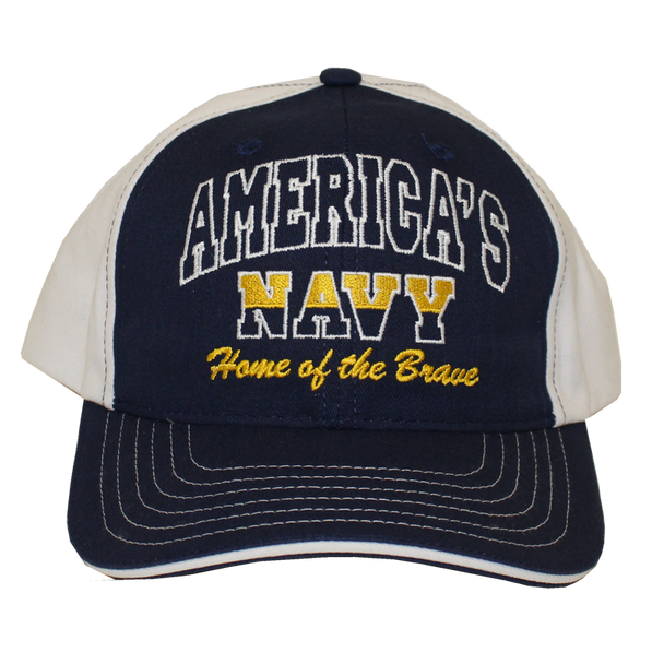 12252 - U.S. Navy Hat America Home of the Brave Made In USA