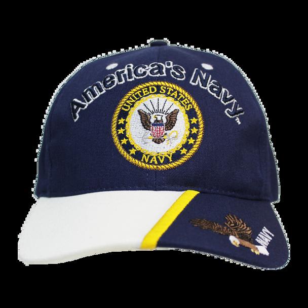 21615 - Made In USA Military Hat - U.S. Navy - Slogan - America's Navy