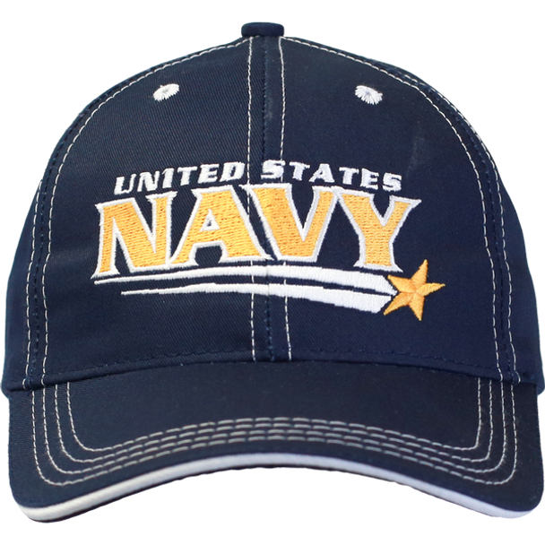 26184 - Made In USA Military Hat - U.S. Navy - Shooting Star