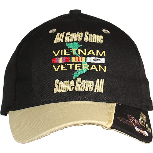 21639 - Military Caps - Made In USA - Vietnam Veteran - All Gave Some; Some Gave All