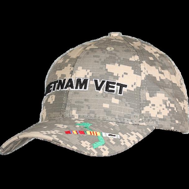 21646 - Made In USA Military Hat - Vietnam Veteran - Digital Camouflage