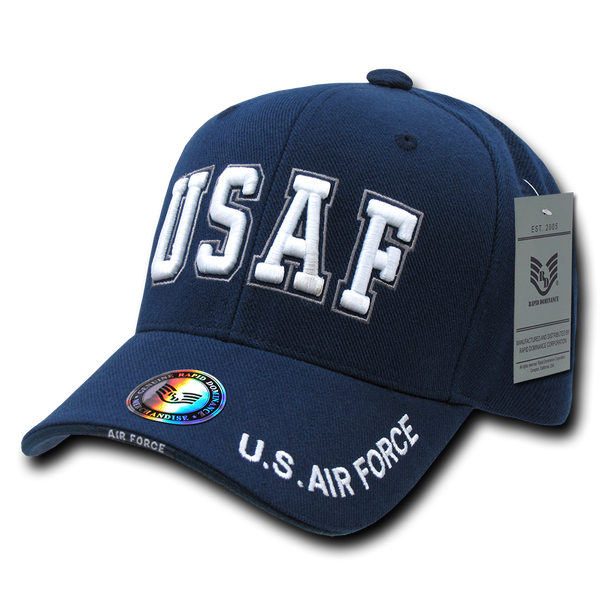 S001 - Military Cap U.S. Air Force Text Blue