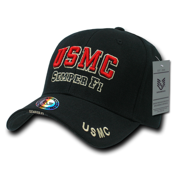 S001 - Marines Cap USMC Semper Fi Black
