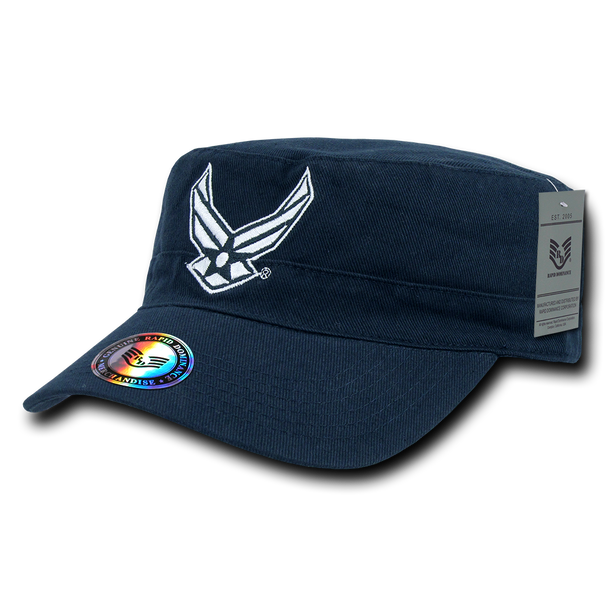 S009 - Air Force Wings Cap Vintage Military Style Reversible Blue