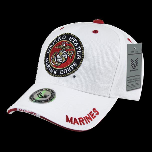 S22 - Marines Caps - United States Marine Corps Logo - White