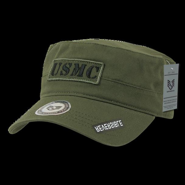 S88 - Marines USMC Cap Vintage Military Style Reversible Olive Drab