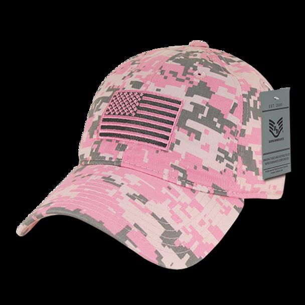 A03 - Tactical Operator Cap Tonal Flag Pink Camo Unstructured -  USMILITARYHATS.COM f09823ffa2a