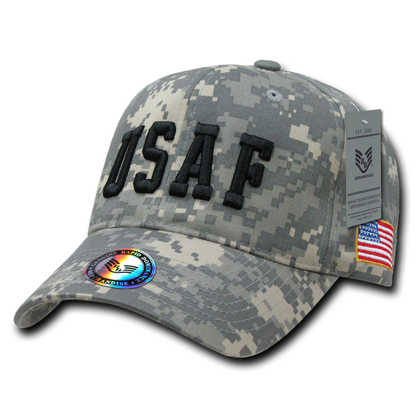 944 - Air Force Cap USAF Text Digital Camouflage