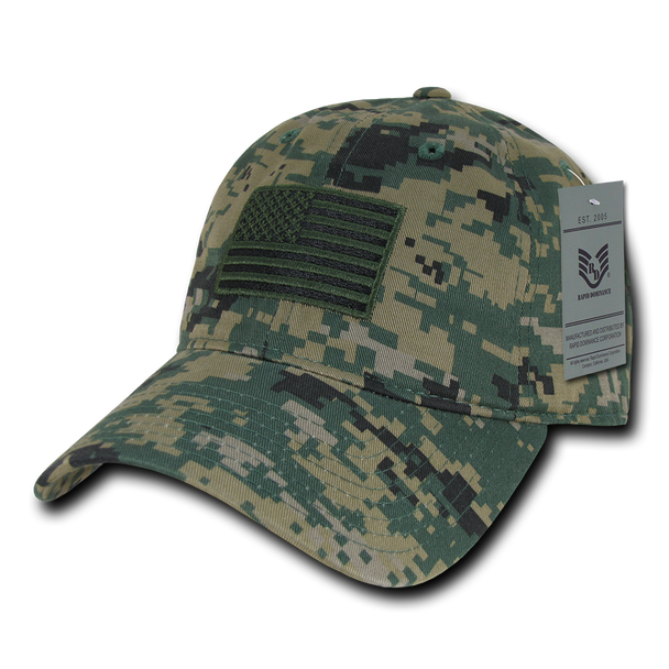 A03 - Tactical Operator Cap Tonal US Flag MCU Digital Camouflage Relaxed
