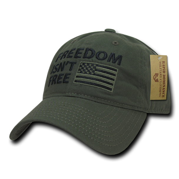 A03 - Patriotic Cap - Freedom Isn't Free - Relaxed - Olive