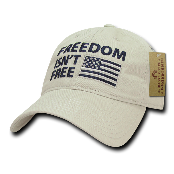 A03 - Patriotic Cap - Freedom Isn't Free - Relaxed - Stone