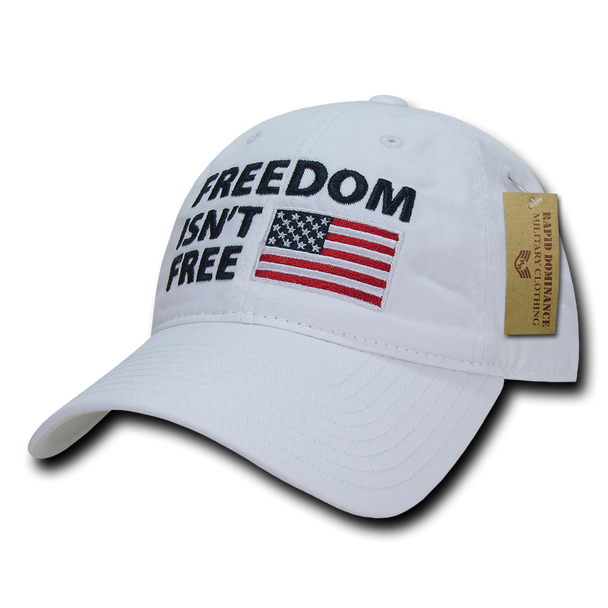 A03 - Patriotic Cap - Freedom Isn't Free - Relaxed - White