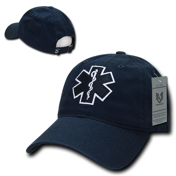 S78 - First Responders Cap - EMT - EMS Star of Life - Relaxed - Blue