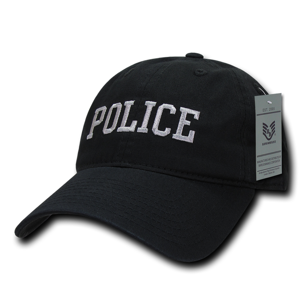 S78 - Police Cap - Relaxed Cotton - Black
