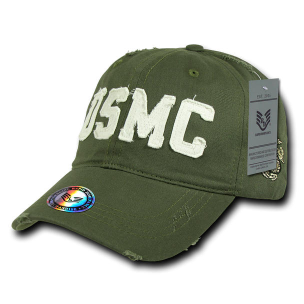 S84 - Vintage U.S. Marine Corps Cap - Relaxed Cotton - Olive Drab